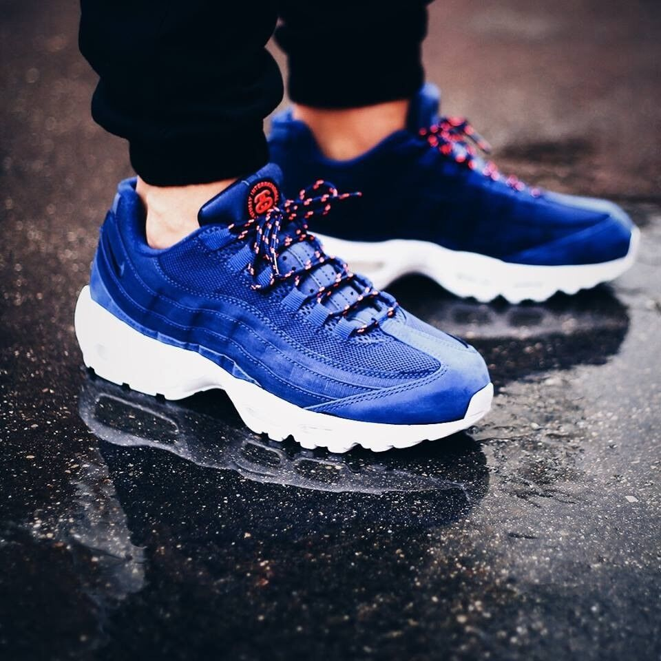 best service 1ba17 acfad ... promo code for nike air max 95 hyperfuse stussy blue and white all  sizes paypal delivery