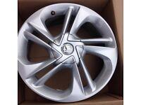 Vauxhall corsa /astra 17 inch alloy wheels (pcd 4x100)
