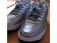 Nike Air Force 1SE metallic silver UK size 4