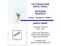 Arts & Craft Market - Apply Now - Leytonstone Arts Trail Artisan Market - 14th July 2018
