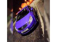 Purple vauxhall Corsa D