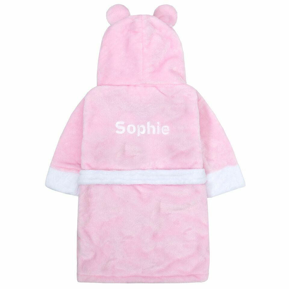 Personalised Embroidered Deluxe Sherpa Baby Pram Buggy Blanket Pink Girl Design