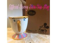 Official Disney Store Chip Character Mug, Beauty and the Beast