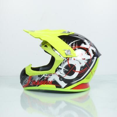Casco Enduro Motocross Neon Yellow Talla L
