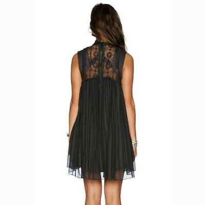 Georgette Baby Doll (Free People Small Penny Georgette Babylon Baby Doll Mini Dress Black Mock)