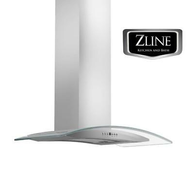 "30"" NEW ZLINE WALL MOUNT RANGE HOOD STAINLESS STEEL and GLASS LED KN4-30"