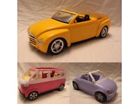 Three Barbie Cars