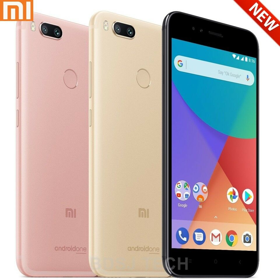 "Android Phone - Xiaomi MI A1 w/ Android One (64GB) 5.5"" Full HD, Global 4G LTE Dual Sim Unlocked"
