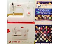 Nearly new Singer tradition 2250, sewing machine, second hand, with 49 threads