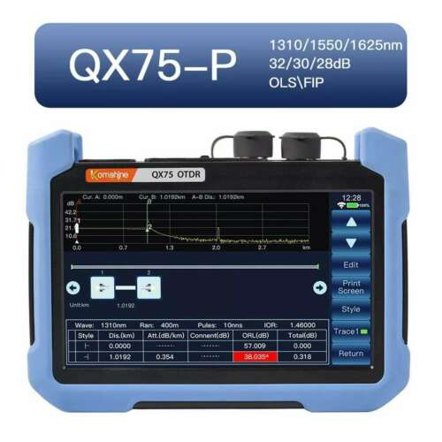 New Upgrade QX75-P Live Pon OTDR 1310/1550/1625 With Link Map/OPS Test Online