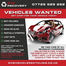 WANTED SCRAP CARS VANS 4x4s DAMAGED MOT FAILURES SPARES OR REPAIRS