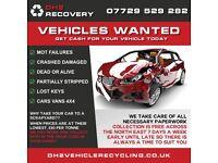 WANTED SCRAP CARS VANS 4x4s DAMAGED MOT FAILURES SPARES OR REPAIRS