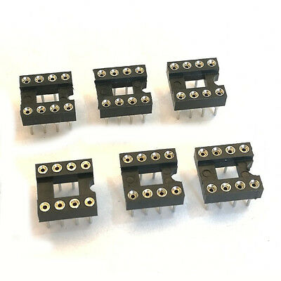 Us Stock 10pcs 8 Pin 8p Dip Ic Socket 0.1 Pitch 0.3 Row Spacing Round