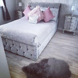 Kingsize Sleigh Bed With Diamontes Only £390