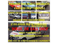 WANTED FOR CASH £150-£3000 FOR CARS, VANS ALSO CARAVANS! NON RUNNERS, SCRAP, DAMAGED ALSO BOUGHT!!!!