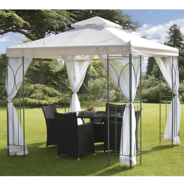 Polenza Garden Gazebo Party Shelter Patio Shade Outdoor Cream Sun Canopy