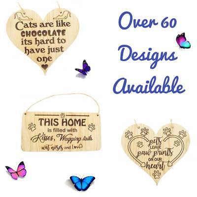 Cat Signs For Home Funny Cat House Sign Gate Door Plaque Pet Animal Lover Gifts ()
