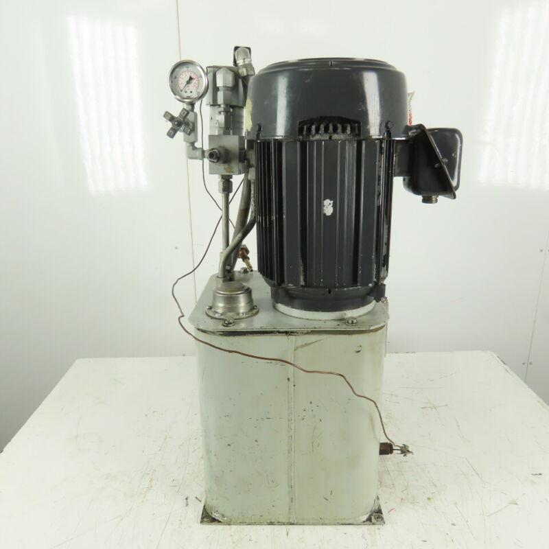 5 Gallon Hydraulic Power Unit 5Hp 208-230/460V 3ph