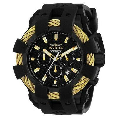 INVICTA MEN'S BOLT BLACK SILICONE BAND CHRONOGRAPH WATCH