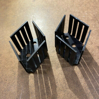 2x Heat Sinks To-3 1-18 Fin For High Power Transistors