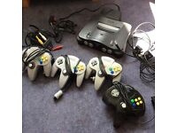 N64 Nintendo 64 Perfect working order - 4 controllers, 9 games(incl. Golden eye and 2 Zelda titles)