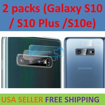 2 X Camera - 2X Tempered Glass Camera Lens Protector For Samsung Galaxy S10 / S10 Plus S10e