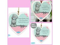 Me to you personalised pastel belle Wooden heart