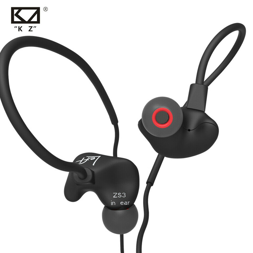 KZ ZS3 Ear Hook Sport Headphone Super Bass Earphone HIFI Ste