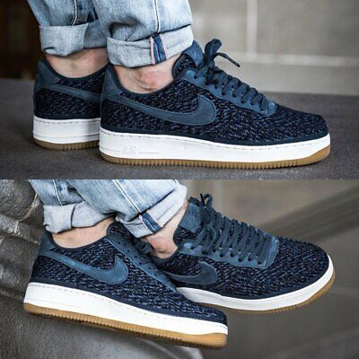Blue Nike Air Force Ones (New with box Nike Air Force One Low Size 10 917825-400 Navy Blue)