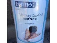 Dormeo Memory Duo Feel Double Mattress 2016 Model Sealed with 15 year Warranty