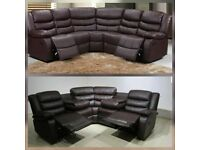SALE ON NOW BRAND NEW RECLINER 3+2 AND CORNER SOFA