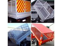 Caged tipper body builders cage barn doors tailgate tailboard truck steel alloy aluminium