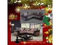 * HOME IS HEART CHRISTMAS SALE 2017 * The Luxurious Helix Chenille Corner Sofas ** FREE DELIVERY **