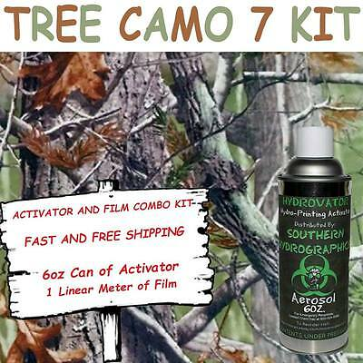 Hydrographic Film Water Transfer Hydro Dip 6oz. Activator Tree Camo 7 Dip Kit