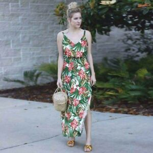 Green floral dress- onesize fits small to large