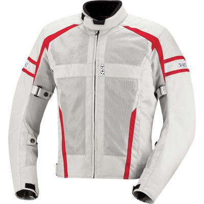 iXS Andover Mesh Motorcycle Jacket With Armor Gray/Red Men's Armored Mesh Motorcycle Jackets