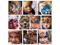 Professional Face Painter, Glitter Tattoos, Art & Craft ~ across London (based in Islington)