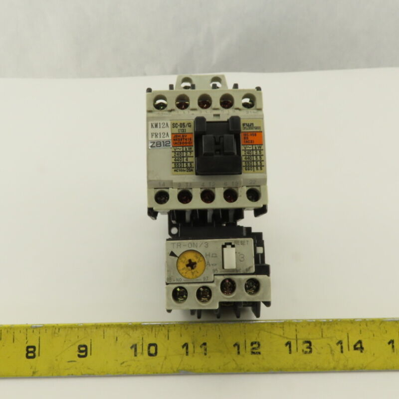 Fuji SC-05/G 600V 5.5kW Magnetic Contactor 1.4-2.2A Trip TR-ON/3 Overload