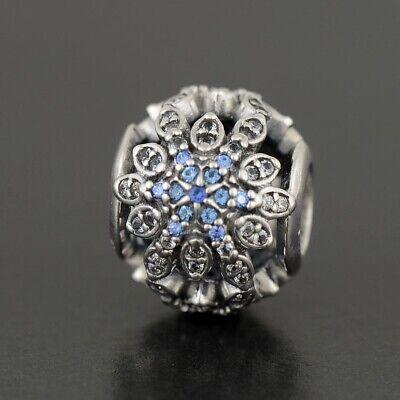 Authentic  Pandora Pink Primrose Silver Charm Crystallized Snowflake  791760 Crystal Snowflake Charm