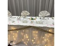 Wedding Venue Decoration Package with Free chair cover and sash hire