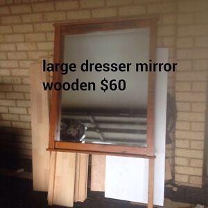 Large wooden mirror Dudley Park Mandurah Area Preview
