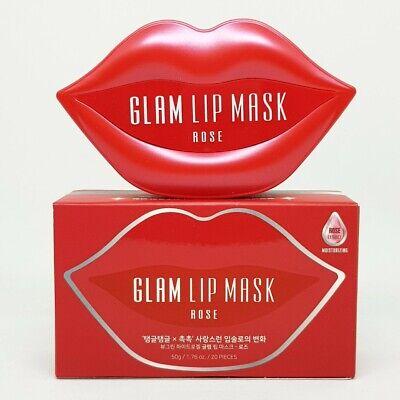 Beauugreen Glam Lip Mask Rose 20pcs Moisturizing Elasticity Nutrition K-Beauty