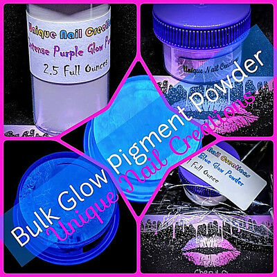 BULK~Intense GLOW IN THE DARK Powder Pigment! You Choose~Acrylic Nails Gel Nails