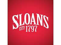 Glasgow's famous Sloans Bar & Restaurant is looking for a FULL CHEF DE PARTIE