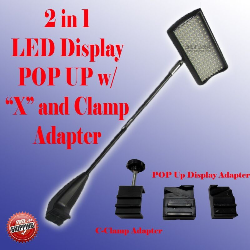 LED Display Light POP UP Tension Booth Panel X and Clamp Trade Show Approved