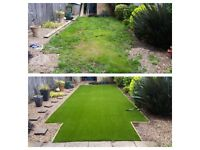 Artificial grass Indian stone garden services fencing decking flagging driveways turfing landscape