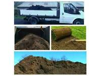 Quality recycled screened topsoil available for delivery
