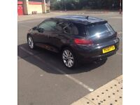 VW SCIROCCO 2.0 TSI GT FULLY LOADED LOTS OF EXTRAS HPI CLEAR FSH BLACK COUPE