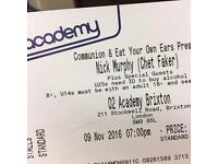 Two tickets Chet Faker for today 60£