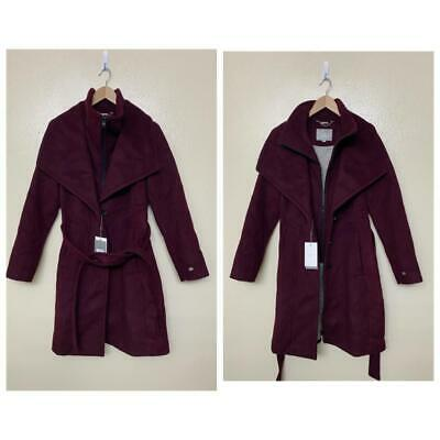 Soia & Kyo Belted Single Breasted Coat Medium Dewberry Belted Wool $495 ELNA-SPN